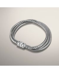 John Hardy | Metallic Three Row Bracelet | Lyst