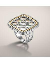 John Hardy | Metallic Small Square Ring | Lyst