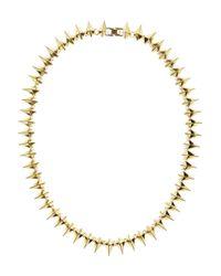 Noir Jewelry | Metallic Studded Necklace | Lyst