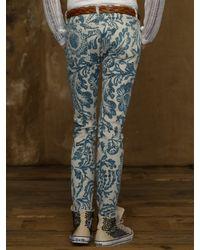 Ralph Lauren   Blue Asiatic Floral Skinny Jean   Lyst