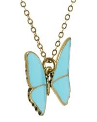 Cath Kidston - Blue Butterfly Necklace - Lyst