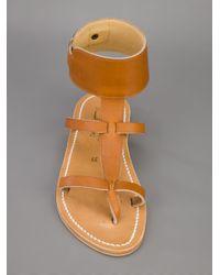 K. Jacques Brown Caravelle Sandal