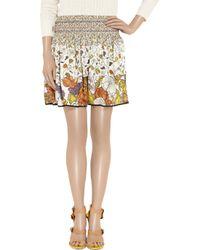 Proenza Schouler Multicolor Floral-print Silk-georgette Skirt