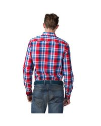 Tommy Hilfiger Blue Ian Check Shirt for men