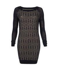 AllSaints Black Diamond Mesh Dress