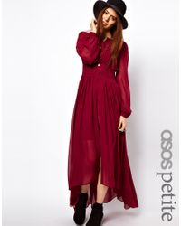 ASOS Collection Maxi Dress with Embroidered Waist Panel