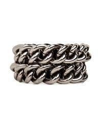 BaubleBar | Metallic Hematite Link Bracelet | Lyst
