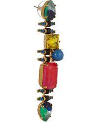 Erickson Beamon - Multicolor Aquarela Di Brasil Gold-Plated Swarovski Crystal Earrings - Lyst