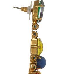 Erickson Beamon | Multicolor Aquarela Di Brasil Gold-Plated Swarovski Crystal Earrings | Lyst