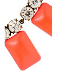 J.Crew - Orange Crystal and Resin Tile Necklace - Lyst