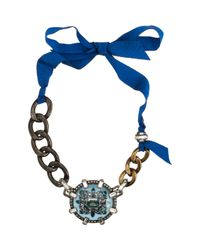 Lanvin - Blue Crystal Les Marquises Choker - Lyst