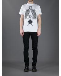 Marcelo Burlon White Jess Tshirt for men