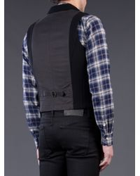 Rag & Bone Black Knit Chamber Waistcoat for men