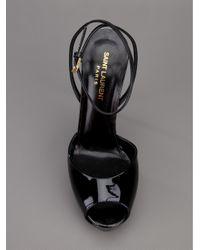 Saint Laurent - Black Stiletto Sandal - Lyst