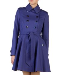 Ted Baker | Purple Moriah Double Breasted Coat | Lyst
