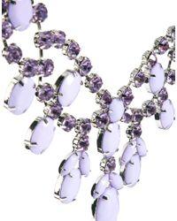 ASOS Purple Premium Jewelled Bib Necklace