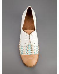 Chie Mihara Natural Isias Laceup Shoe