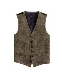 J Crew Ludlow Vest In Herringbone Italian Linen In Natural