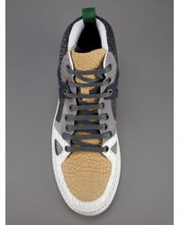 Lanvin | White Colour Panelled Sneaker for Men | Lyst