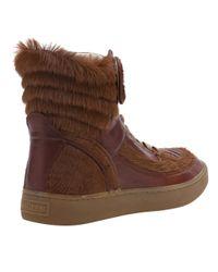 Alexander McQueen X Puma Brown Joust Pony Shoe for men