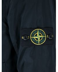 Stone Island Black Funnel Neck Jacket for men