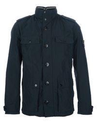Stone Island Green Slim Multipocket Jacket for men