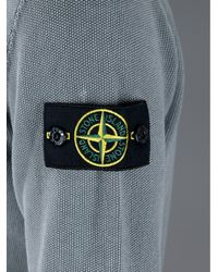Stone Island Gray Long Sleeve Polo Shirt for men
