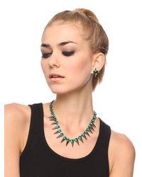 BaubleBar | Gray Emerald Spike Strand | Lyst