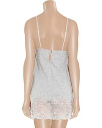 Juicy Couture | Gray Beautiful Dreamer Lace-Trimmed Jersey Nightdress | Lyst