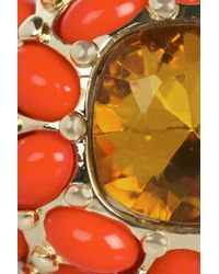 Kenneth Jay Lane - Orange Plated Cubic Zirconia Ring - Lyst
