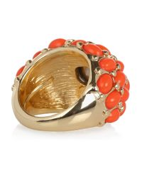 Kenneth Jay Lane Orange Plated Cubic Zirconia Ring