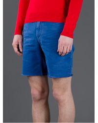 Polo Ralph Lauren Blue Distressed Short for men