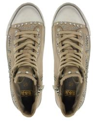 Ash Natural Vibration Stud High Top Trainers for men