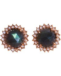 Irene Neuwirth | Blue Labradorite Diamond Stud Earrings | Lyst