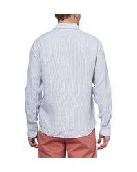 J.Crew | Blue Slimfit Striped Linen Shirt for Men | Lyst