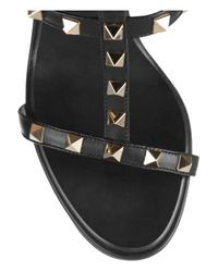 Valentino Black Studded Leather Sandals