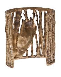 Alkemie - Metallic Wolf in Woods Cuff - Lyst