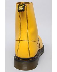 Dr. Martens The Hincky Smiley 8eye Boot in Yellow