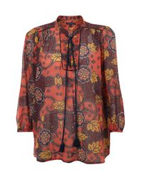 French Connection Multicolor Indo Gauze Shirt