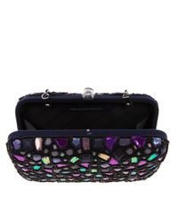 French Connection - Purple Mosaic Box Clutch Bag - Lyst