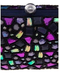 French Connection | Purple Mosaic Box Clutch Bag | Lyst