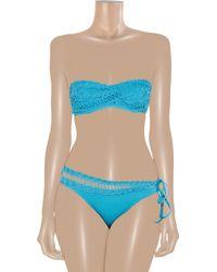 La Perla - Blue Resort Crocheted Bandeau Bikini Top - Lyst