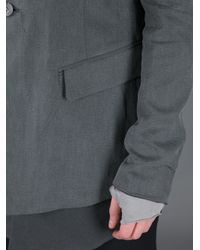 Lost & Found Gray Button Up Jacket for men