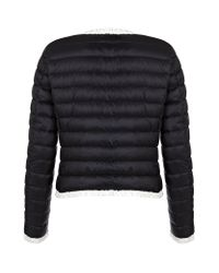 Moncler Blue Flavienne Quilted Jacket