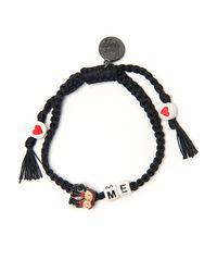 Venessa Arizaga | Black 'marry Me' Woven Bracelet | Lyst