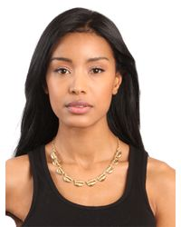 BaubleBar - Metallic Gold Shell Necklace - Lyst