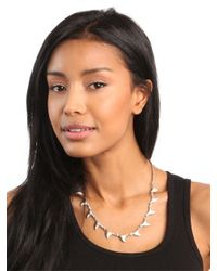 BaubleBar - Metallic Silver Shark Necklace - Lyst