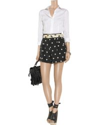 Marc By Marc Jacobs White Polka Dot Shorts