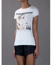 Philipp Plein White Short Sleeved Tshirt