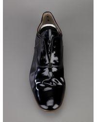 Premiata Black Laceless Patent Shoe for men
